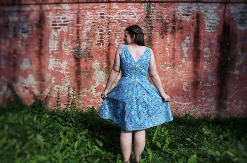 Burda dress-back