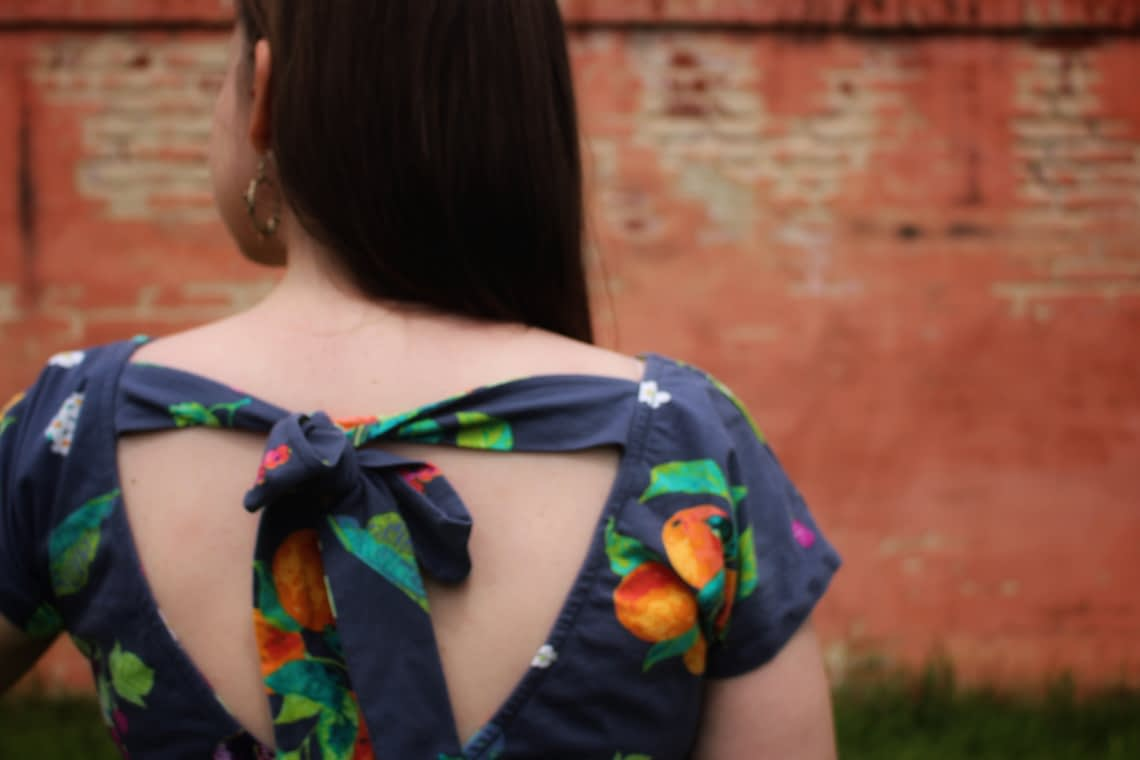 Sew Over It Molly top wrap back dress hack
